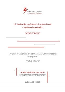10. študentska konferenca zdravstvenih ved z mednarodno udeležbo Javno zdravje